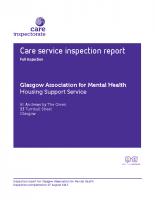 Care Inspectorate Inspection Report 2015