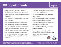 Top Tips – Talking to your GP French