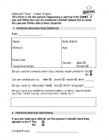 Calm Referral Form