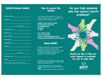Carers Leaflet Rev 7.6.18