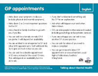 Top Tips – Talking to your GP Arabic