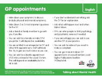 Top Tips – Talking to your GP Urdu