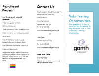 Volunteer Leaflet